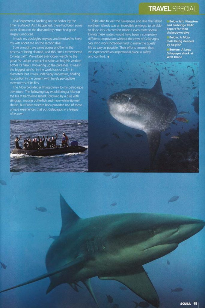 Issue 70 Scan of Page 95 with photo of Elmbridge and Kingston BSAC Group