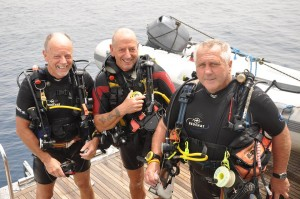 Brian, Jim and Len Red Sea 2015