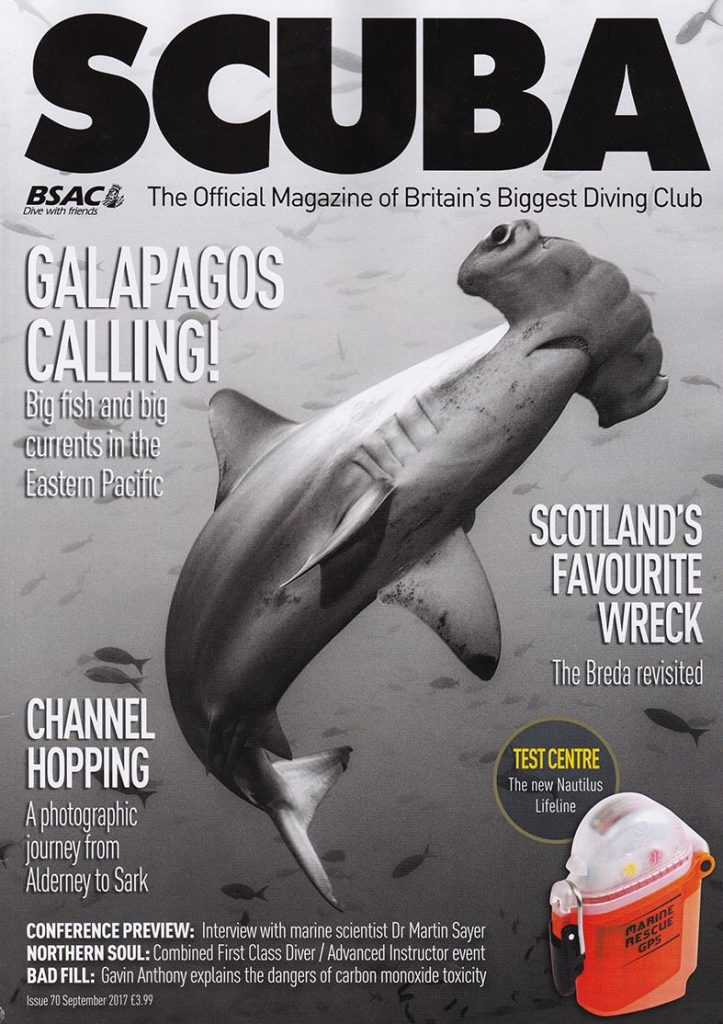 Issue 70 Front Cover of BSAC's SCUBA Magazine