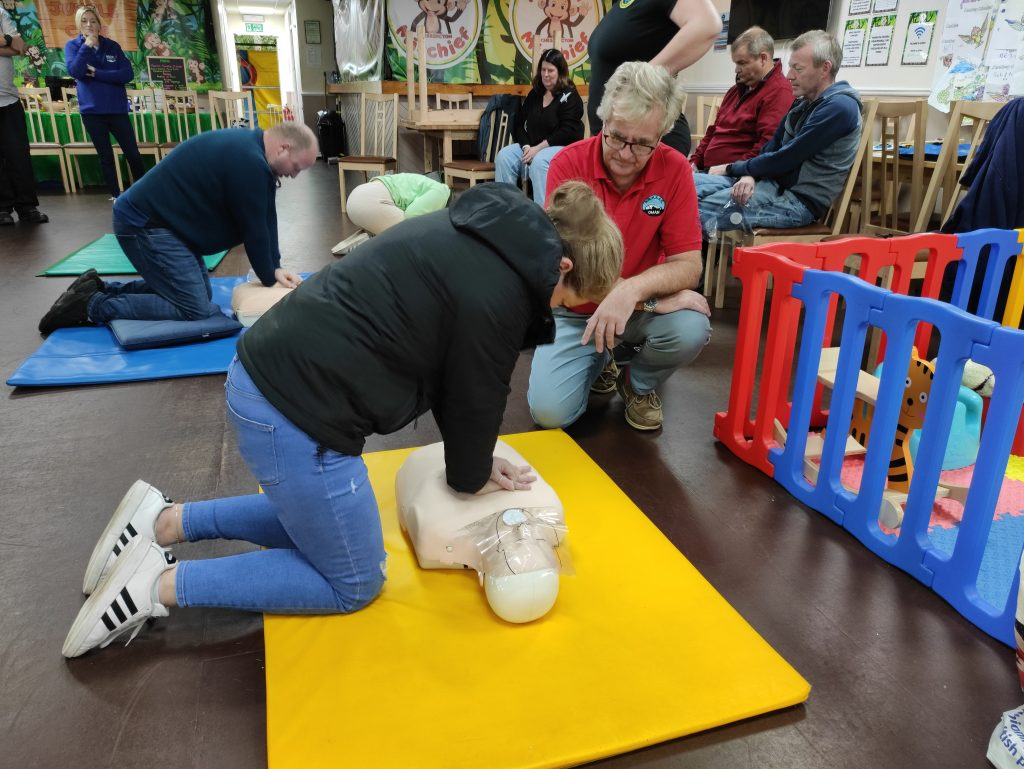 Oxygen Administration Training Course - Image of someone performing Basic Life Support Chest Compressions