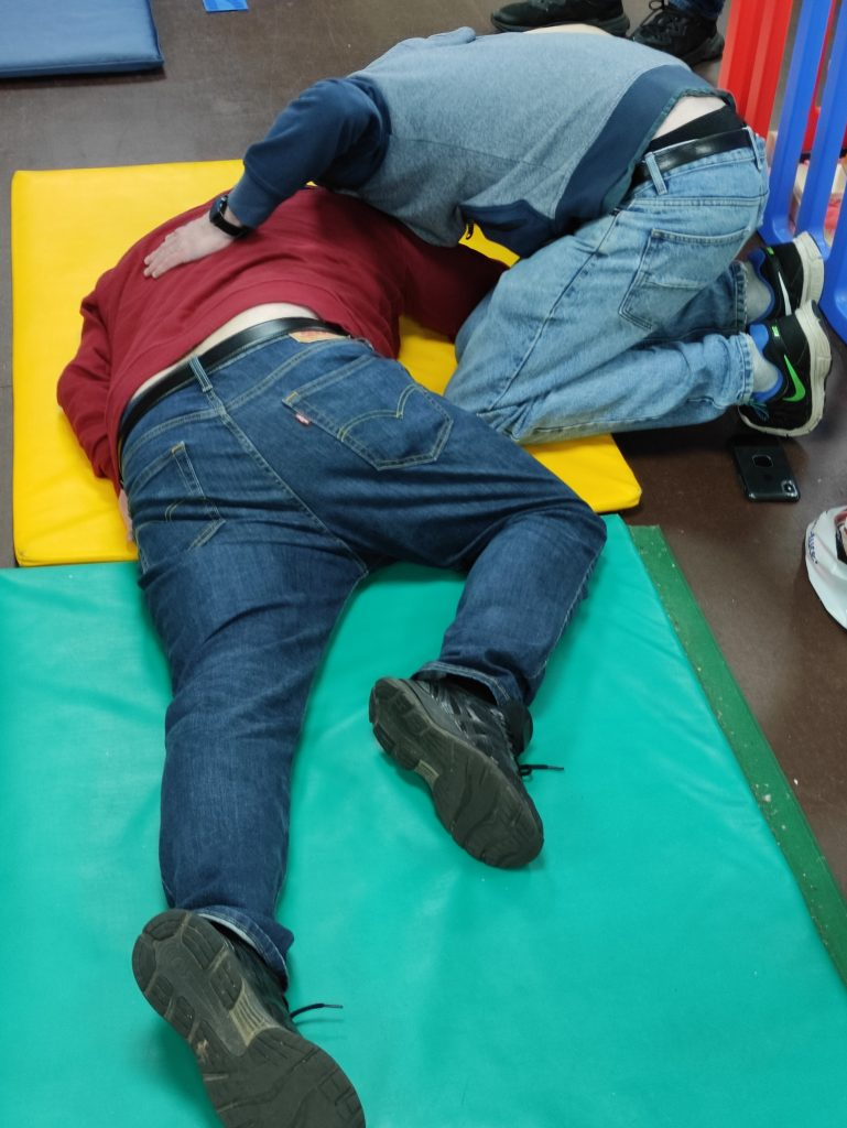 Oxygen Administration Training Course - Image of person in recovery position