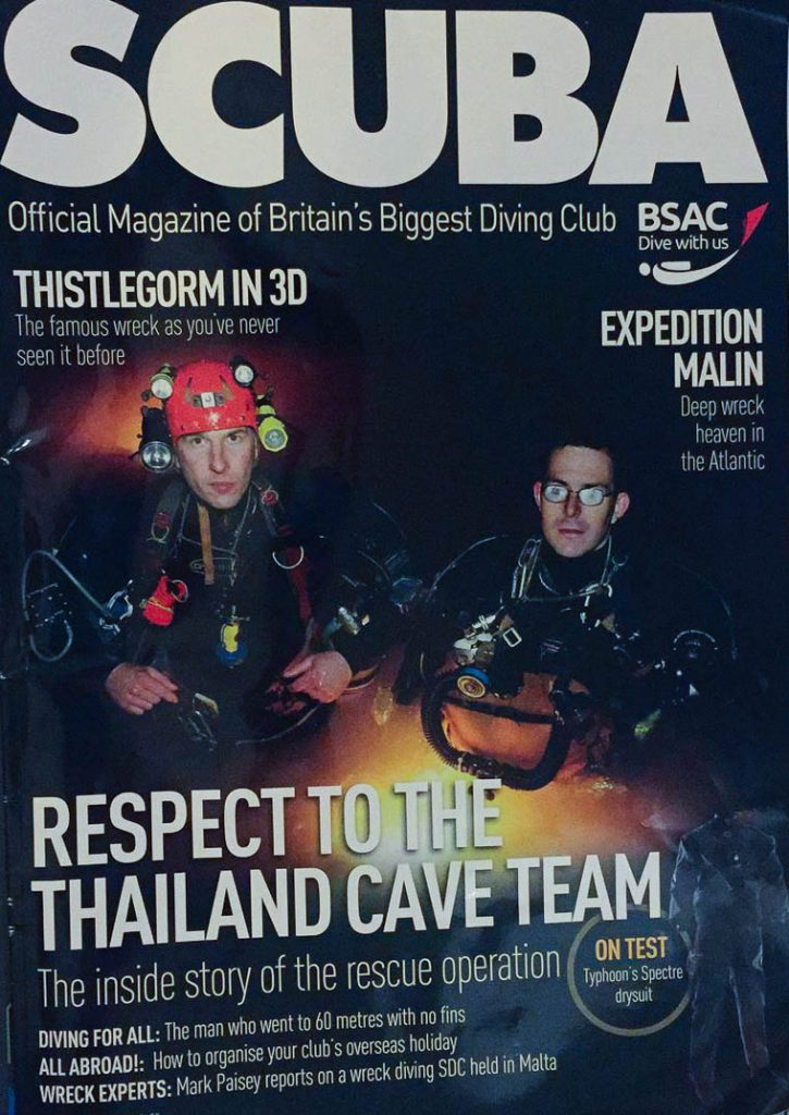 Image of SCUBA Magazine Front Cover Issue 82 September 2018